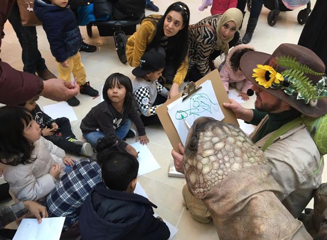 zelva the giant tortoise does a self tortrait